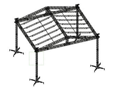 12x10m Double-Pitch Roof